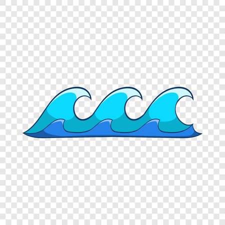 Small waves icon. Cartoon illustration of small waves vector icon for web