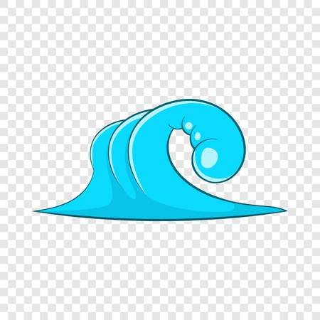 High ocean wave icon. Cartoon illustration of high ocean wave vector icon for web