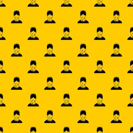 Sweaty man pattern seamless vector repeat geometric yellow for any design 写真素材 - 130236485