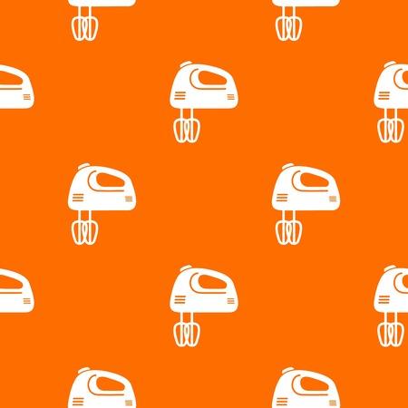 Mixer kitchen pattern vector orange for any web design best Illustration