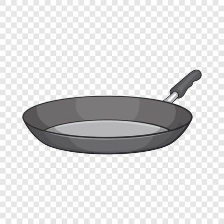 Frying pan icon. Cartoon illustration of frying pan vector icon for web