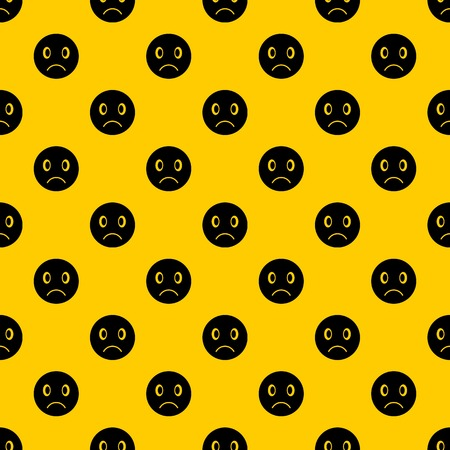Sad emotpattern seamless vector repeat geometric yellow for any design