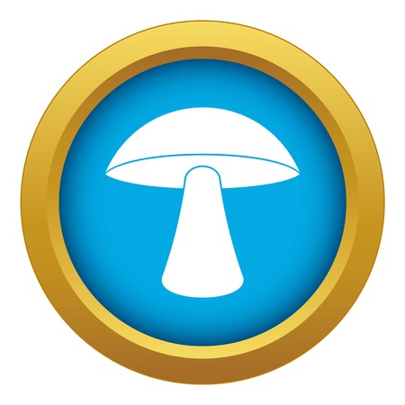 Birch mushroom icon blue vector isolated