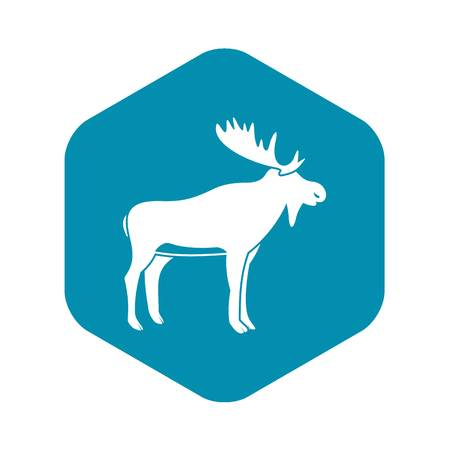 Deer icon, simple style Illustration