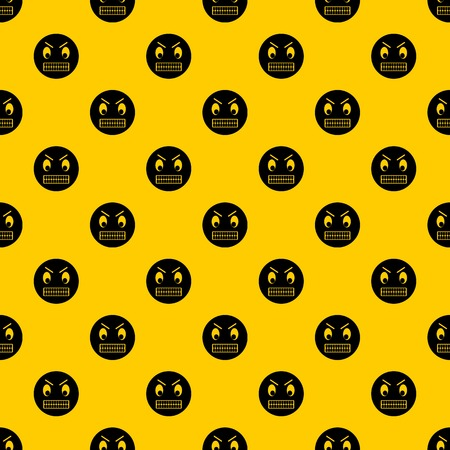 Angry emotpattern seamless vector repeat geometric yellow for any design  イラスト・ベクター素材