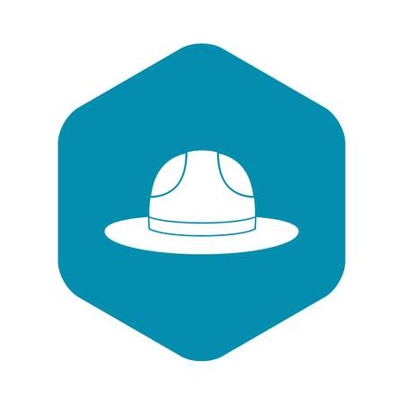 Canadian hat icon. Simple illustration of Canadian hat vector icon for web