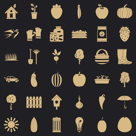 Equipment icons set, simple style Stockfoto - 122867643