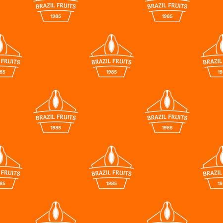 Brazil fruit pattern vector orange