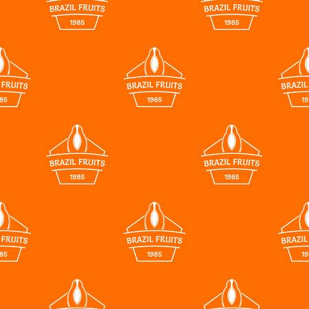 Brazil fruit pattern vector orange
