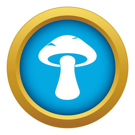 Tubular mushroom icon blue vector isolated