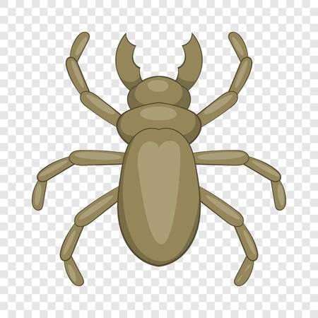 Käfer-Holzwurm-Symbol, Cartoon-Stil