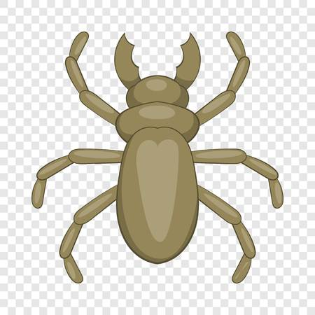 Beetle woodworm icon, cartoon style Illustration