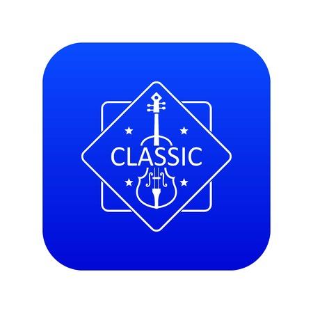 Violin icon blue vector