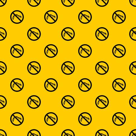 No caterpillar sign pattern vector