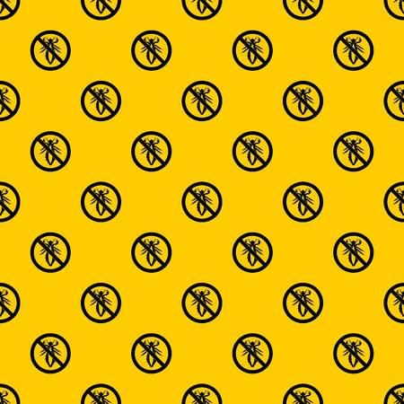 No louse sign pattern seamless vector repeat geometric yellow for any design