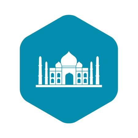 Taj mahal icon, simple style Illustration