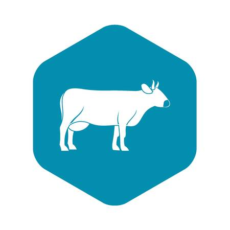 Cow icon, simple style Illustration