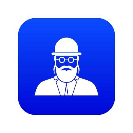 Orthodox jew icon digital blue