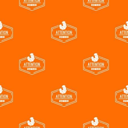 Zombie pattern vector orange Illustration