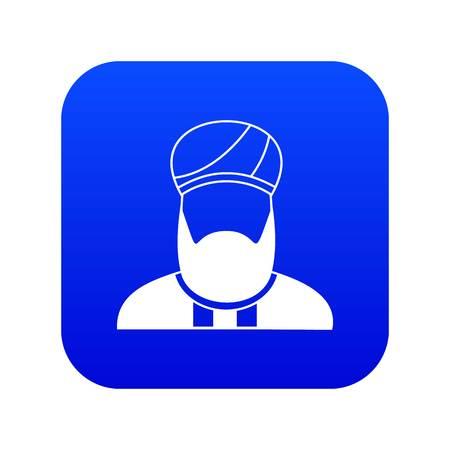 Muslim preacher icon digital blue