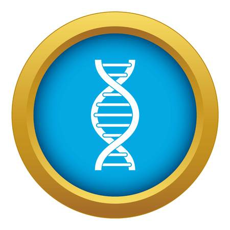 DNA spiral icon blue vector isolated on white background for any design Imagens - 130236708