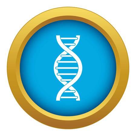 DNA spiral icon blue vector isolated on white background for any design Ilustração