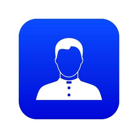 Pastor icon digital blue