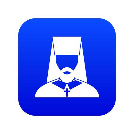 Orthodox priest icon digital blue
