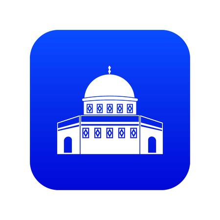 Dome of the Rock on the Temple Mount icon digital blue Illustration