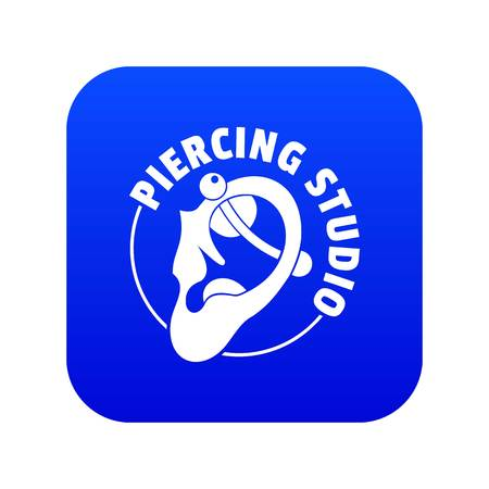 Piercing icon blue vector
