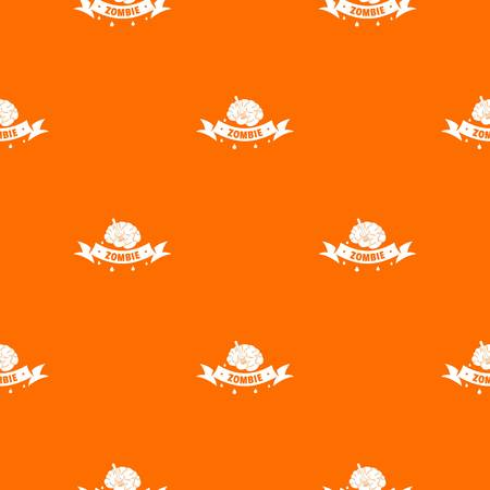 Zombie brain pattern vector orange Иллюстрация