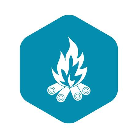 Bonfire icon, simple style Illustration