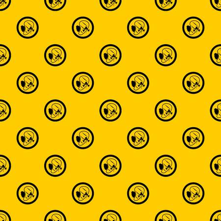 Steak pattern seamless vector repeat geometric yellow for any design