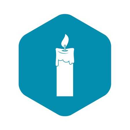 Candle icon, simple style