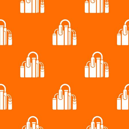 Factory pattern vector orange for any web design best