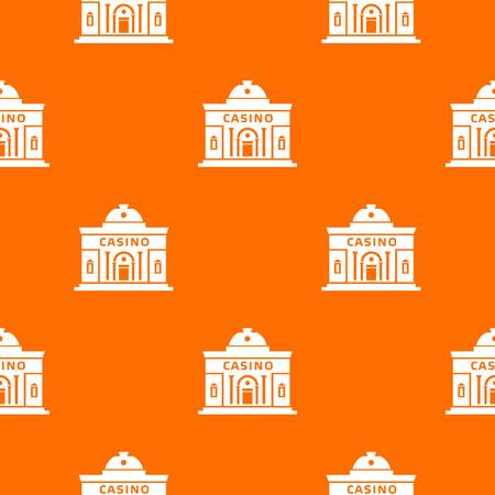 Casino building pattern vector orange for any web design best 向量圖像