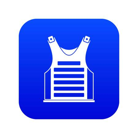 Paintball vest icon digital blue for any design isolated on white vector illustration