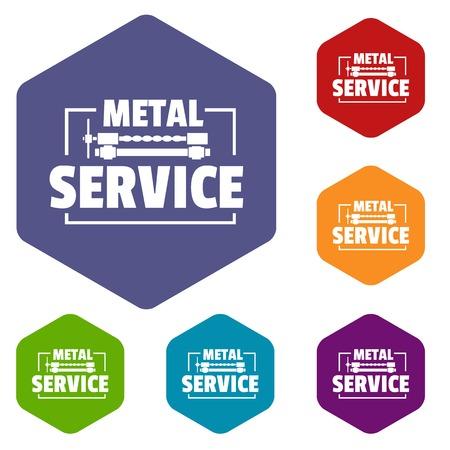 Icônes de service artisanal vecteur hexaèdre Vecteurs
