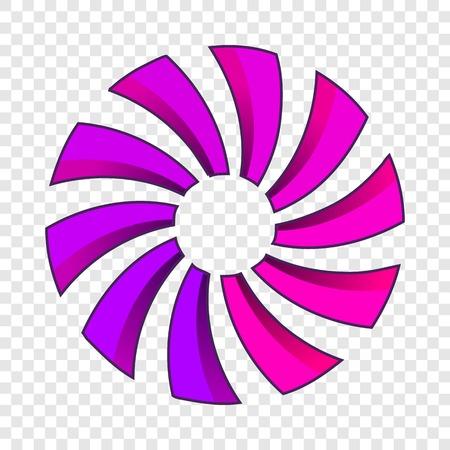 Turbine or propeller icon. Cartoon illustration of propeller vector icon for web design