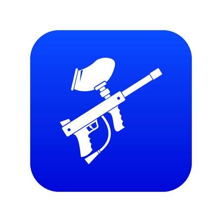 Paintball marker icon digital blue for any design isolated on white vector illustration Stock Illustratie