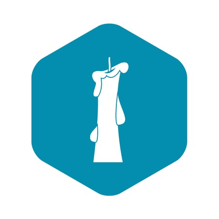 Church candle icon, simple style