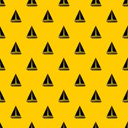Sea yacht pattern seamless vector repeat geometric yellow for any design
