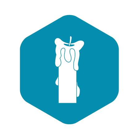 Extinguished candle icon, simple style Vettoriali