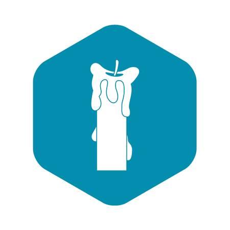 Extinguished candle icon, simple style Illustration