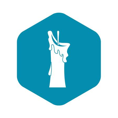 Little candle icon, simple style Vettoriali