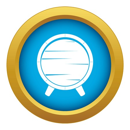 Barrel on legs icon blue vector isolated