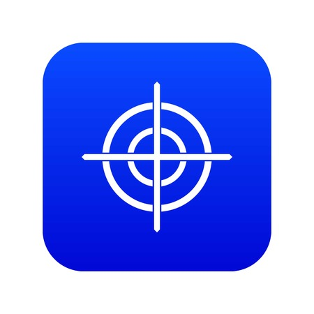 Target crosshair icon digital blue for any design isolated on white vector illustration Stock Illustratie