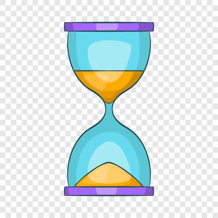 Hourglass icon. Cartoon illustration of hourglass vector icon for web design