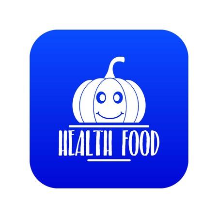Pumpkin icon blue vector