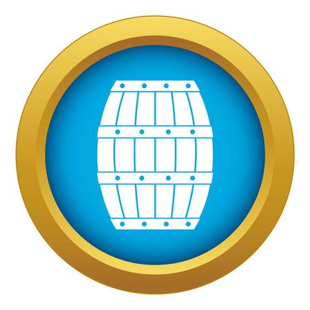 Barrel icon blue vector isolated
